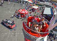 Jul 30, 2016; Sonoma, CA, USA; NHRA fans ride a ferris wheel at the Toyota display on the midway in the pits during qualifying for the Sonoma Nationals at Sonoma Raceway. Mandatory Credit: Mark J. Rebilas-USA TODAY Sports