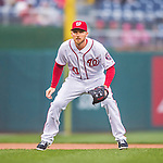 28 April 2016: Washington Nationals third baseman Stephen Drew in action during a game against the Philadelphia Phillies at Nationals Park in Washington, DC. The Phillies shut out the Nationals 3-0 to sweep their mid-week, 3-game series. Mandatory Credit: Ed Wolfstein Photo *** RAW (NEF) Image File Available ***