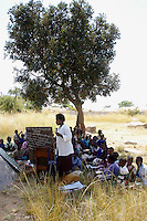 350 children attend free open-air classes run by a local man, Ronald Kanengoni, who opened an informal school in the back yard of his home. Without his initiative, many of the pupils would have been denied an education because they could not afford school fees or provide the correct documentation.