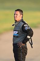 May 18, 2012; Topeka, KS, USA: NHRA top alcohol funny car driver Shane Westerfield during qualifying for the Summer Nationals at Heartland Park Topeka. Mandatory Credit: Mark J. Rebilas-