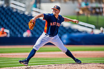 1 March 2017: Houston Astros pitcher Kevin Chapman on the mound during Spring Training action against the Miami Marlins at the Ballpark of the Palm Beaches in West Palm Beach, Florida. The Marlins defeated the Astros 9-5 in Grapefruit League play. Mandatory Credit: Ed Wolfstein Photo *** RAW (NEF) Image File Available ***