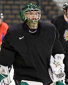 Aaron Walski (North Dakota 30) - The 2008 Frozen Four participants practiced on Wednesday, April 9, 2008, at the Pepsi Center in Denver, Colorado.