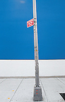 A no standing any time sign outside the Long Island City MOMA.  New York, 2002