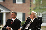 Thursday, May 31, Charlotte, North Carolina. Dedication ceremony for the new Billy Graham Library in Charlotte, North Carolina.. Franklin and Billy Graham.