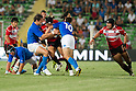 (L-R) Kensuke Hatakeyama, Shota Horie (JPN), AUGUST 13, 2011, Rugby : International test match between Italy 31-24 Japan at Dino Manuzzi Stadium, Cesena, Italy, (Photo by Enrico Calderoni/AFLO SPORT) [0391]