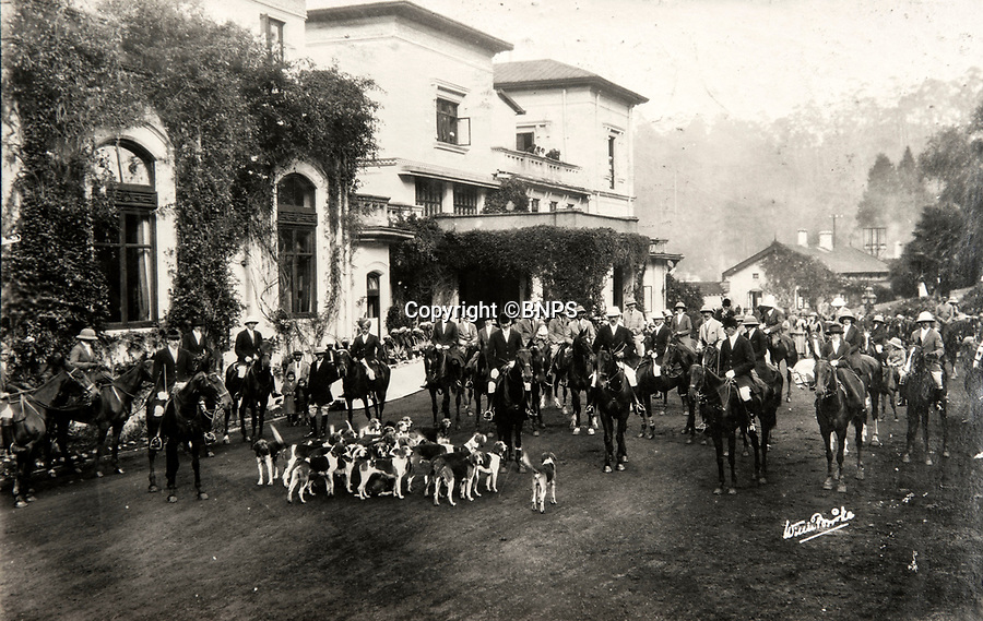 BNPS.co.uk (01202 558833)<br /> Pic: PhilYeomans/BNPS<br /> <br /> The Ootacamund hunt in the famous Indian hill station, where the British escaped the heat and the dust of the lowlands during the summer months. <br /> <br /> Last Days of the Raj - A fascinating family album from one of the last Viceroy's of India reveal Britain's 'Jewel in the Crown' in all its splendour.<br /> <br /> The family album of Viscount George Goschen has been unearthed after 90 years, and provide's an amazing snapshot of the pomp and pageantry of a wealthy and powerful British family in India in the 1920s and 30's.<br /> <br /> They show the Governor of Madras and his family enjoying a lavish lifestyle of parades, banquets and hunting and horse racing in the last decades of the Raj.<br /> <br /> At the time, Gandhi was organising peasants, farmers and labourers to protest against excessive land-tax and discrimination. <br /> <br /> The album consists of some 300 large photographs. They have remained in the family for 90 years but have now emerged for auction following a house clearance and are tipped to sell for &pound;200.