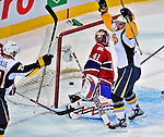 20 December 2008: Buffalo Sabres' left wing forward Clarke MacArthur celebrates a second period goal against the Montreal Canadiens at the Bell Centre in Montreal, Quebec, Canada. With both teams coming off wins, the Canadiens extended their winning streak by defeating the Sabres 4-3 in overtime. ***** Editorial Sales Only ***** Mandatory Photo Credit: Ed Wolfstein Photo