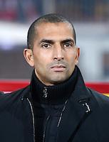 Fussball International  Freundschaftsspiel   14.11.2012 Oesterreich - Elfenbeinkueste Trainer Sabri Lamouchi (Elfenbeinkueste)