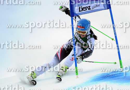 28.12.2013, Hochstein, Lienz, AUT, FIS Weltcup Ski Alpin, Lienz, Riesentorlauf, Damen, 1. Durchgang, im Bild Elisabeth Görgl (AUT) // Elisabeth Görgl (AUT) during the 1st run of ladies giant slalom Lienz FIS Ski Alpine World Cup at Hochstein in Lienz, Austria on 2013/12/28. EXPA Pictures © 2013, PhotoCredit: EXPA/ Erich Spiess