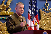 United States Marine General James E. Cartwright, vice chairman of the Joint Chiefs of Staff, speaks at the Newman&rsquo;s Own Awards ceremony held in the Pentagon&rsquo;s Hall of Heroes, September 1, 2010. The annual ceremony honors nonprofit organizations for their innovative programs to improve the quality of life of service members and their families. This year, eight nonprofit organizations received awards totaling $75,000.  Cartwright is a target of a Justice Department investigation into a leak of information about a covert U.S.-Israeli cyberattack on Iran&rsquo;s nuclear program. <br /> Mandatory Credit: Elaine Wilson / DoD via CNP