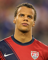 Timothy Chandler(21) of the USA MNT during an international friendly match against Paraguay at LP Field, in Nashville, TN. on March 29, 2011.Paraguay won 1-0.