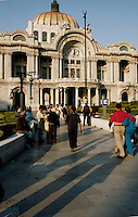 Bellas Artes, the opera house in Mexico City is one of its architectural jewels. Mexico City 3-09-04