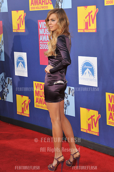 Lindsay Lohan at the 2008 MTV Video Music Awards at Paramount Studios, Hollywood. .September 7, 2008  Los Angeles, CA..Picture: Paul Smith / Featureflash