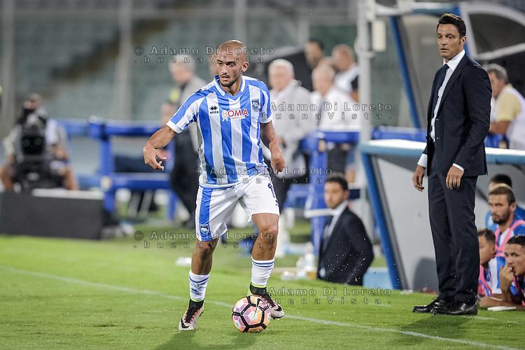 Benali Ahmad (Pescara) during the Italian Serie A football match Pescara vs SSC Napoli on August 21, 2016, in Pescara, Italy. Photo by Adamo Di Loreto