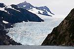 Aialik Glacier in Kenai Fjords National Park. Aialik is a tidewater glacier Located in Aialik Bay on the Kenai Fjords Peninsula.