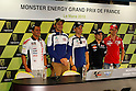 May 20, 2010 - Le Mans, France - (L-R)Randy Depuniet, Valentino Rossi, Jorge Lorenzo, Dani Pedrosa and Casey Stoner are is pictured at the French Grand Prix on Le Mans circuit, France, on May 20, 2010. (photo Andrew Northcott/Nippon News)1