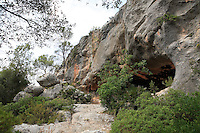 The spider cave in Spain. Cueva de la Arana (spider cave) in Valencia, Spain,