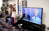 PHOENIX, ARIZONA, USA, 19/10/2016:<br /> Clinton supporters after watching the third debate between Donald Trump and Hillary Clinton, at the republican party headquarters.<br /> Arizona, traditionally very republican state, has become a swing state with both main candidates equally scoring in polls. (Photo by Piotr Malecki / Napo Images)