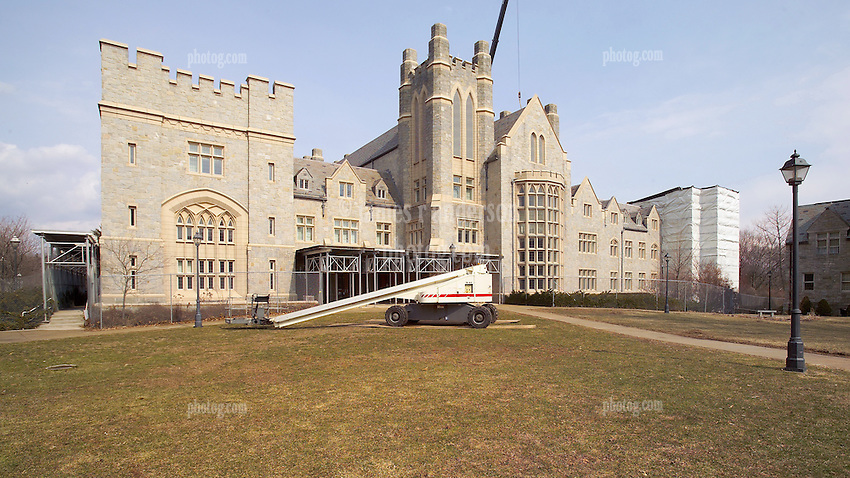 Pre-Construction Photographs: UConn Law Library Stone Restoration Project. Contractor: NER Construction, Inc.