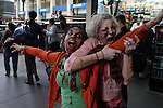 Zombies take over Manhattan for promotion of AMC's ' Walking Dead ' at Penn Station