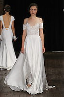 "Model walks runway in a ""Lust"" bridal gown from the Rivini by Rita Vinieris Fall 2017 collection on October 7th, 2016 during New York Bridal Fashion Week."