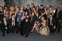 LOS ANGELES - APR 29:  The Bay, Ronn Moss, Nicolas Coster, Mary Beth Evans, Gregori J. Martin, Wendy Riche, Kristos Andrews, Carlyn Hennesy at the 2017 Creative Daytime Emmy Awards at the Pasadena Civic Auditorium on April 29, 2017 in Pasadena, CA