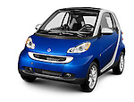 2008 Smart Fortwo fuel efficient mini city car Isolated silhouette with a clipping path on white background