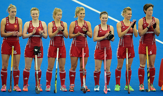 ENG - London, England, August 30: During the women Gold Medal Match between England (red) and The Netherlands (white) on August 30, 2015 at Lee Valley Hockey and Tennis Centre, Queen Elizabeth Olympic Park in London, England. Final score 2-2 (3-1 SO). (Photo by Dirk Markgraf / www.265-images.com) *** Local caption ***