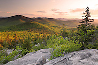 Late Spring Sunrise against Kearsarge North in the White Mountains of NH