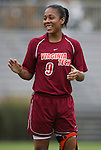 25 October 2009: Virginia Tech's Julian Johnson. The Duke University Blue Devils defeated the Virginia Tech Hokies 4-1 at Koskinen Stadium in Durham, North Carolina in an NCAA Division I Women's college soccer game.