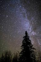 Milky way galaxy, Wiseman, Alaska.