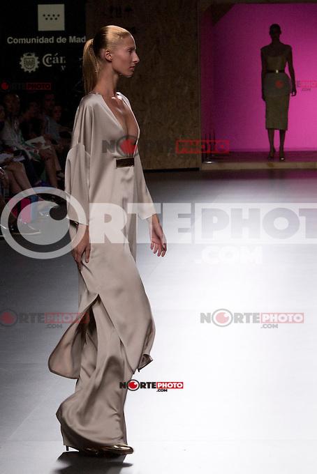 01.09.2012. Models walk the runway in the Juan Duyos fashion show during the Mercedes-Benz Fashion Week Madrid Spring/Summer 2013 at Ifema. (Alterphotos/Marta Gonzalez) /NortePhoto.com<br /> <br /> **CREDITO*OBLIGATORIO** <br /> *No*Venta*A*Terceros*<br /> *No*Sale*So*third*<br /> *** No*Se*Permite*Hacer*Archivo**<br /> *No*Sale*So*third*
