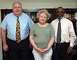 NAUGATUCK, CT-- 02 FEBUARY 2005   020205DA03.JPG --Natinal Diversified Training Institute. L-R Robert Lowman, (V.P. Training), Marion Lowman, (President and C.E.O.), and  Howard Gilreath, (Vice President and Secretary).  For marketplace. Staff photo. Darlene Douty.