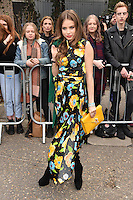 Xenia Tchoumitcheva arrives for the Topshop Unique AW17 show as part of London Fashion Week AW17 at Tate Modern, London, UK. <br /> 19 February  2017<br /> Picture: Steve Vas/Featureflash/SilverHub 0208 004 5359 sales@silverhubmedia.com