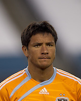 Houston Dynamo forward Brian Ching (25). The New England Revolution defeated Houston Dynamo, 1-0, at Gillette Stadium on August 14, 2010.