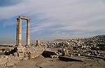 Jordan, the Citadel overlooking Amman&amp;#xA;<br />