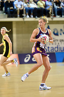 Gabrielle Simpson in action during the ANZ Championship - Mojo Pulse v Queensland Firebirds at Te Rauparaha Arena, Porirua, New Zealand on Sunday 8 March 2015. <br />