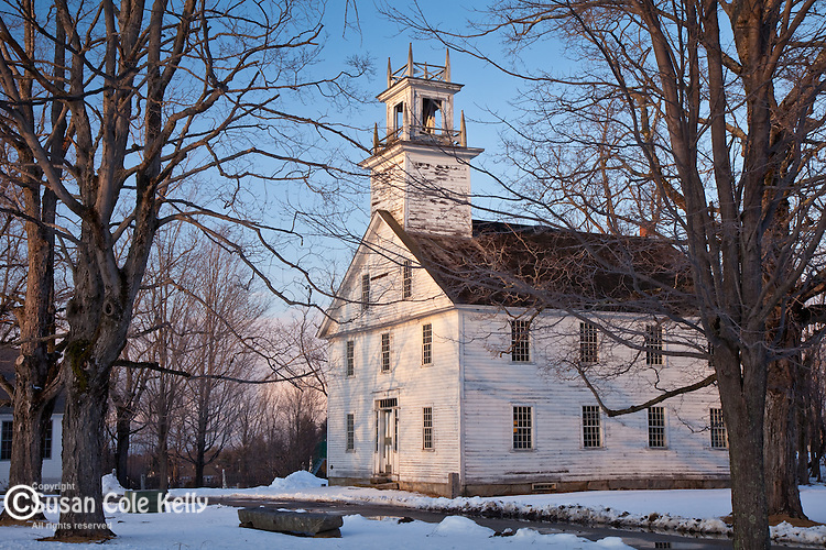 18th century churches on the Town Common in New Salem, MA, USA