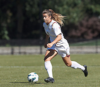 Boston College forward Stephanie McCaffrey (9) on the attack. Virginia Tech (maroon) defeated Boston College (white), 1-0, at Newton Soccer Field, on September 22, 2013.
