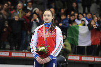 SHORT TRACK: TORINO: 15-01-2017, Palavela, ISU European Short Track Speed Skating Championships, Podium 1000m Ladies, Sofia Prosvirnova (RUS), ©photo Martin de Jong