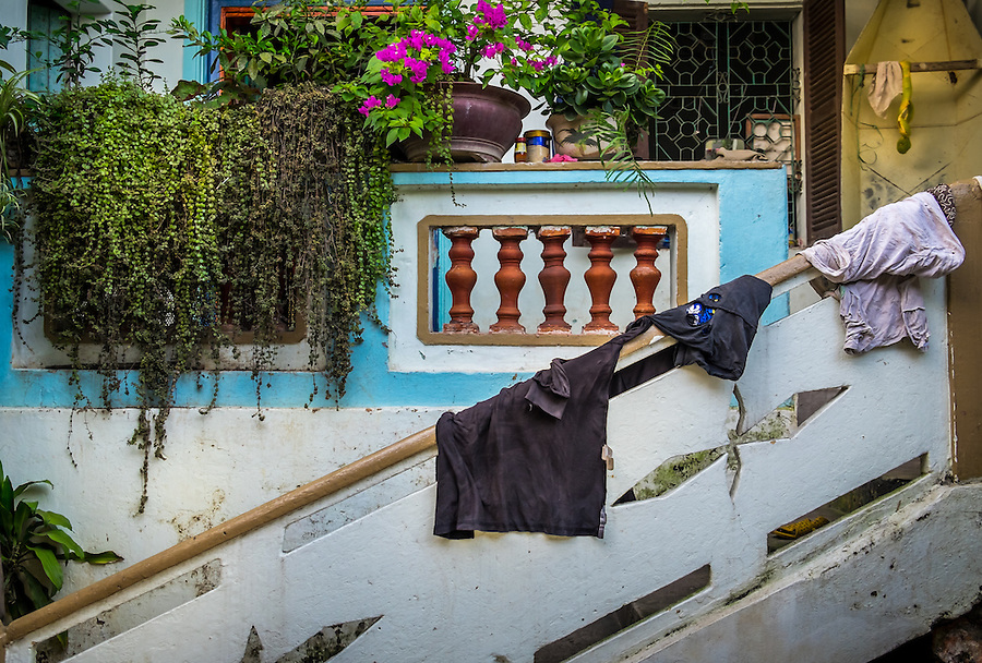 VAN HA, VIETNAM - CIRCA SEPTEMBER 2014:  Entrance of house at the Lang Gom Tho Ha village. The village belongs to the Van Ha commune, it is located 50km away from Hanoi in Northern Vietman