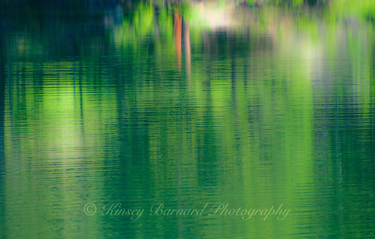&quot;SOFTLY SURVEYOR&quot;<br /> <br /> Reflections on a lake create the illusion of an impressionist painting. ORIGINAL 24 X 36 GALLERY WRAPPED CANVAS SIGNED BY THE ARTIST $2,500. CONTACT FOR AVAILABILITY.
