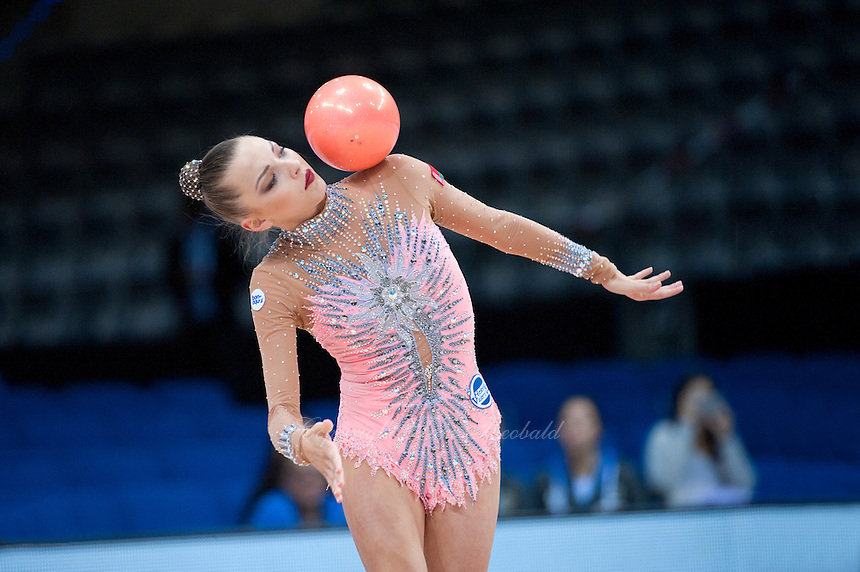 September 7, 2015 - Stuttgart, Germany - MELITINA STANIOUTA of Belarus performs during AA qualifications at 2015 World Championships.