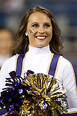 Sept 01, 2012:  Washington cheerleader Kaylie Gray against San Diego State.  Washington defeated San Diego State 21-12 at CenturyLink Field in Seattle, Washington...