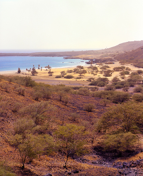 The main beach and bay at Sao Francisco, Santiago, Cape Verde Islands, Africa.