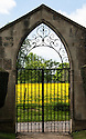 Gate to churchyard, St Leonard & St James Church, Rousham.