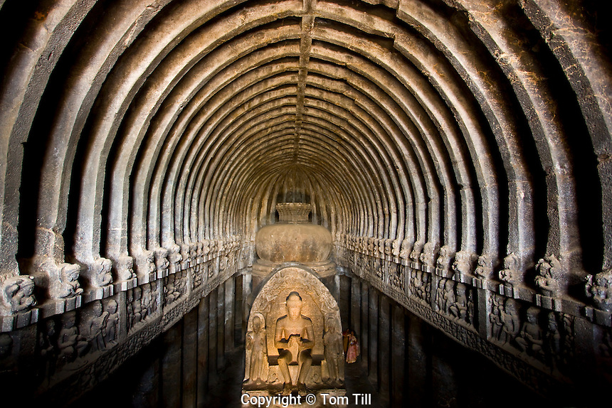 Buddhist Cave (Cave 10) Ellor Caves   UNESCO World Heritage Site, India   Maharashtra State