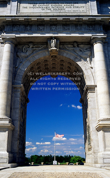 Image Of The National Memorial Arch At Valley Forge National Historical Park Pennsylvania