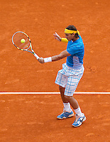 Rafael NADAL (ESP) against David FERRER (ESP) in the semi-finals. Rafael Nadal beat David Ferrer 6-2 6-3..International Tennis - 2010 ATP World Tour - Masters 1000 - Monte-Carlo Rolex Masters - Monte-Carlo Country Club - Alpes-Maritimes - France..© AMN Images, Barry House, 20-22 Worple Road, London, SW19 4DH.Tel -  + 44 20 8947 0100.Fax - + 44 20 8947 0117