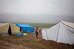 ARBAT, IRAQ: A refugee camp on the outskirts of Arbat in the semi autonomous region of Iraqi Kurdistan. ..Refugees from Syria, most of whom are Kurds, have been arriving at camps in Kurdistan trying to escape the continuing conflict.  Arbat is located approximately 20 kilometres away from Sulaimaniyah...Photo by Ali Arkady/Metrography.